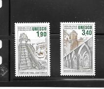 OA 8072 / FRANCE 1986 Yvert 91 à 92 ** - UNESCO Patrimoine Universel - Servizio