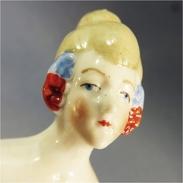 ~ DEMI FIGURINE FEMME # Mode Porcelaine Poupée Art Déco - Autres