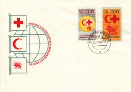 DFDC 1466-67 5o Jahre Liga Der Rotkreusgesellschaften 1919-1979, Senftemberg