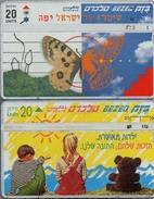 1980 ISRAELE FARFALLA BAMBINI VINTAGE TELECARTE  PHONECARDS  TAXKARTEN - Israele