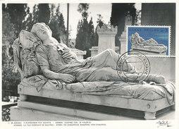 D29083 CARTE MAXIMUM CARD 1967 GREECE - SCULPTURE SLEEPING GIRL OF HALEPAS CP ORIGINAL