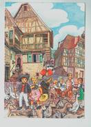 14812    CPM    Folklore Alsacien Par Marc BITTLER  , 1989 ,  ACHAT DIRECT !! - Illustrators & Photographers