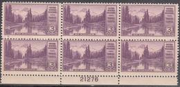 UNITED STATES    SCOTT NO. 742     MNH      YEAR  1934     PLATE NO. BLOCK