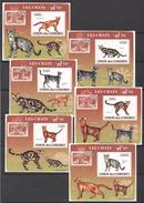 C82 2009 UNION DES COMORES PETS CATS LES CHATS 6LUX BL MNH