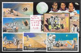 Espace Apollo 15 - Ajman N°125 (5v) & BF N°96 1971 O & **