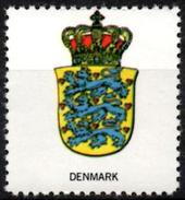VIgnette Cinderella Seal Label Denmark Coats Of Arms Lion Lions Löwen Löwe Leones Mammals Cats Fauna Crown
