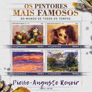 MOZAMBIQUE 2016 - P-A Renoir, Dog. Official Issue