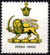 VIgnette Cinderella Seal Label Denmark Coats Of Arms Lion Lions Löwen Löwe Leones Mammals Cats Sun Crown