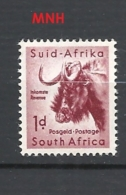SUDAFRICA   1959 Local Animals Stamps Of 1954 - Different Watermark   MNH - Sud Africa (...-1961)