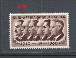 SUDAFRICA   1960 Union Day  Prime Ministers Botha, Smuts, Hertzog  MNH - Sud Africa (...-1961)
