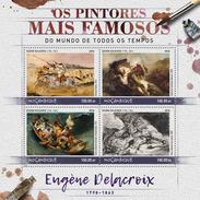 MOZAMBIQUE 2016 - E. Delacroix, Lion. Official Issue