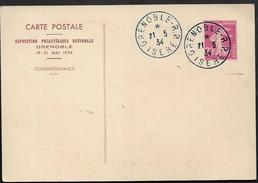 ENTIER POSTAL GRENOBLE4 Carte Commémoratif Exposition De Grenoble Mai 1934 Ref SECI3 ...    G