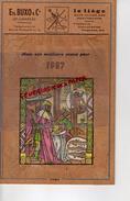 47 - LAVARDAC - MAGNIFIQUE  CALENDRIER ETS. BUXO EN LIEGE ET FEUILLE DE LIEGE - 1967 - Calendriers