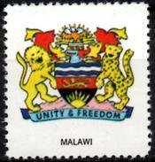 VIgnette Cinderella Seal Label Malawi Coats Of Arms Lion Lions Löwen Löwe Leones Leopard African Fish Eagle Sun