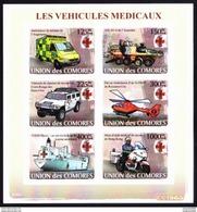 2008, COMORES -  RED CROSS / CROIX ROUGE - Les Vehicules Medicaux // MNH**