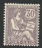 Port Said, 30 C. 1903, Sc # 27, Mi # 27, MH - Ungebraucht