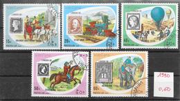 Philatélie London 90 - Laos N°953 à 957 1990 O
