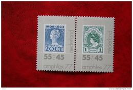 AMPHILEX ´77  NVPH 1138-1137  (Mi 1102-1101); 1977 POSTFRIS / MNH ** NEDERLAND / NIEDERLANDE - 1949-1980 (Juliana)