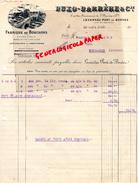 47 -LAVARDAC PONT DE BORDES-BELLE FACTURE BUXO- BARRERE & CIE- FABRIQUE BOUCHONS LIEGE-SPECIALITES POUR PARFUMERIE-1931 - Calendriers