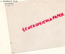 47 - LAVARDAC - FACTURE J. DAYRAUT FILS - Calendriers