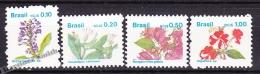 Bresil - Brazil - Brasil 1989 Yvert 1921- 24, Definitive, Brazilian Flora - MNH - Brazil