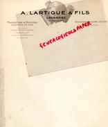 47 - LAVARDAC - FACTURE A. LARTIGUE & FILS- MANUFACTURE BOUCHONS LIEGE - UNIC - Calendriers