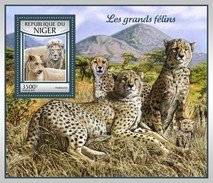 Niger 2016, Animals, Wild Cats, Lions, Leopard, 4val In BF