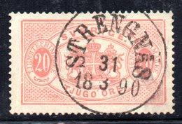 XP2498 - SVEZIA 1874 , Servizio 20 Ore Unificato N.  7A  Usato Used . Dentellato 13