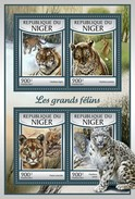 Niger 2016, Animals, Wild Cats, Tiger, Leopard, 4val In BF
