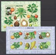 B246 2007 MOCAMBIQUE FLORA NATURE FRUITS FRUTOS 1KB+1BL MNH
