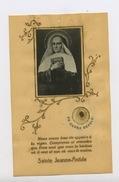 IMAGE RELIGIEUSE, PHOTO COLLÉE SUR GÉLATILE  ,  SAINTE JEANNE-PINTIDE (AVEC RELIQUE) - Images Religieuses