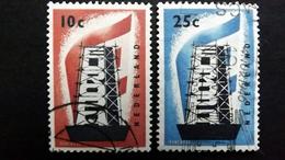Niederlande 683/4 Oo/used, EUROPA/CEPT 1956 - Gebraucht