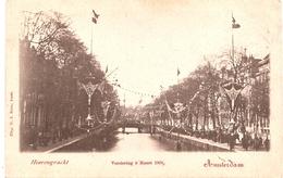 AMSTERDAM - Heerengracht , Versiering 5maart 1901 - Dos Simple - Amsterdam