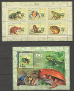 B260 2007 MOCAMBIQUE FAUNA FROGS RAS 1KB+1BL MNH