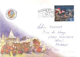 Lettre Santa Claus ' Main Post Office Avec Timbre 2017 Et Cachet De Romanievi Sur Le Cercle Arctic - Finland