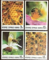 Cyprus 1989 Bees Bee-Keeping Insects MNH