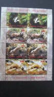 Macedonia Mazedonien 2016  MNH ** Ma 742-45 KB Wild Animals Sheet