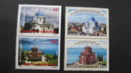 Macedonia Mazedonien 2016  MNH ** Ma 747-748  Ru 2403-04 Churches Joint Issue Russia