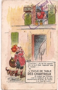 59 - MAUBEUGE - épicerie Crèmerie - DOUCHEZ DAMOUR 47 RUE DE FRANCE - PUB : Huile Des Chartreux - Maubeuge