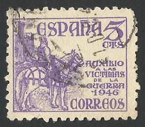 Spain, 5 C. 1949, Sc # RA27, Mi # 48, Used. - Bienfaisance