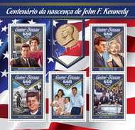 GUINEA BISSAU 2017 - J.F. Kennedy, Presidential Series Medal. Official Issue