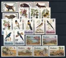 Südrhodesien 1977 Mi. 180-199 - ** Postfrisch Qualität: 100% - Natur Tiere Vög