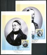 """DDR1989 Maxicard,MC Mi.Nr.3256/57 Aus Bl.98 """"Alfred Ed. Und Christian L. Brehm,Zoologen Und Forscher"""" 2 MK"""