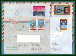 Lot 4 Lettres Madagascar  Voilier Colombe Paix Avion ...   > France Boat Peace ...