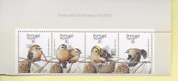 TIMBRES - STAMPS - PORTUGAL (AÇORES) - 1989 - OISEAUX - Regulus Regulus Azorica - SÉRIE DE TIMBRES NEUFS - MHN