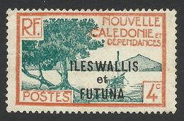 Wallis And Futuna, 4 C. 1930, Sc # 46, MH - Unused Stamps