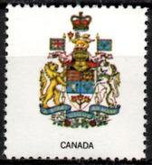 VIgnette Cinderella Seal Label - Canada - Coats Of Arms - Lion Roses, Thistles, Shamrocks And Lilies Crown