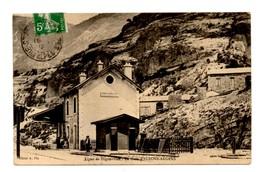 GARE ALLONS ARGENS ALPES DE HAUTE PROVENCE 04 LIGNE DE DIGNE A NICE TRAIN CHEMIN DE FER TRES BON ETAT VOYAG2E 1912 - France