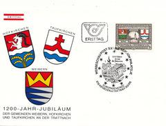 L3212 - Austria (1985) 4716 Hofkirchen An Der Trattnach: Hofkirchen ,Taufkirchen And Weobern - Coat Of Arms