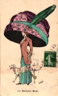 Dame Mit Großem Hut Und Windhund, Sign. G. JOUAN, 1910 - Autres Illustrateurs